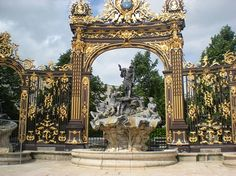 NANCY FRANCE =Real Gold can't wait to get there! http://www.TravelPod.com - Place Stanislas by TravelPod member Fbauchet, from Nancy, France ... Neptune fountain, by the way it is real gold