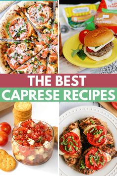 Try one of these delicious recipes like this recipe for caprese salad! Use fresh tomatoes, basil, and mozzarella cheese for a flavorful meal idea. Caprese Pizza, Caprese Pasta Salad, Summer Recipes, Healthy Dinner Recipes, Delicious Recipes, Sweet Days, Watermelon Recipes, Fabulous Foods, Kitchen Hacks