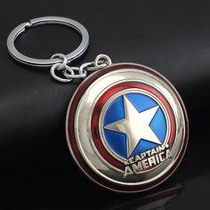 Marvel Comics Super Hero Captain America Avengers KeyRings Keychains Holder Purse Bag Buckle Accessories Gift Key Chains K102