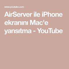 AirServer ile iPhone ekranını Mac'e yansıtma - YouTube