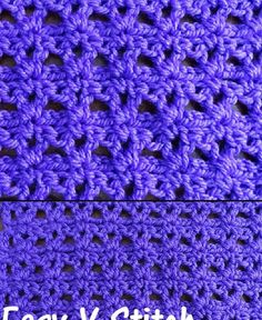 Meladoras Creations  |    Easy V Stitch – Free Crochet Pattern