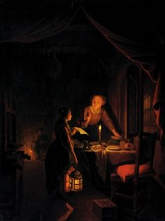[Conversation by Candlelight] by gerrit dou