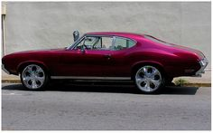 Old School Hot Pink Muscle Car - Not sure what it is, but it looks awesome!