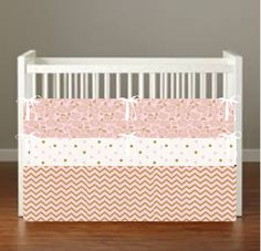 Pink Gold Crib Bedding *more choices*