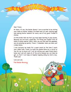 Free easter bunny letter printable pinterest easter bunny free easter bunny letter spiritdancerdesigns Image collections