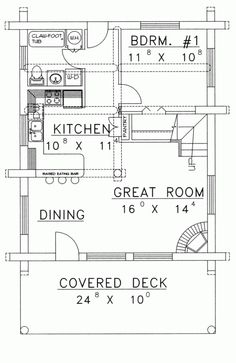 Marvelous Log Cabin House Plans with Loft and Kitchen with ...