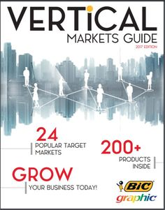 Let us do the work for you! We have analyzed the top sellers and latest trends in the most popular industries, and used this research to create the 2017 Vertical Markets Guide. Featuring innovative products from several well-known brands and retail partners, we are confident this essential resource will help you grow your business with existing clients as well as target potential new ones. #livebicgraphic #promoproducts