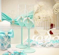 Свадебные бокалы (ручная работа)