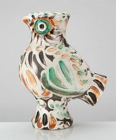 Picasso Ceramic Madoura Sculpture Signed, Wood-Owl, 1969