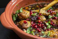 #Tajine mit #Hühnchen, #Granatapfel und #Aprikosen      #rezept #recipe #food