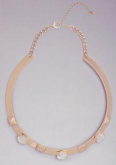 bebe Pyramid Collar Necklace