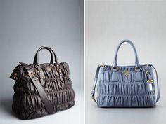 661b727c7e Prada Graphite Napa Gaufre Convertible and Light Blue Small Bag