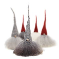Christmas Tomte, Large, Red Cap Grey Hair