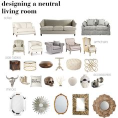 Top pieces to help you design a neutral living room