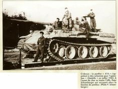 A Panther Ausf D with it's crew being transported during the build up for the Kursk Offensive