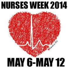 NURSES WEEK 2014 MAY 6-MAY 12TH. Nurse humor. Nurses Week 2014. Nursing funny. Celebrate nurses. RN. Registered Nurses. LPN. Heart. EKG.