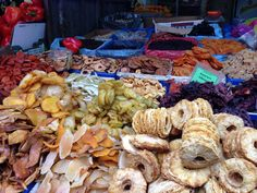Dried fruits in Carmel market Israel Trip, Israel Travel, Stuffed Mushrooms, Fruit, Vegetables, Food, Stuff Mushrooms, Essen, Vegetable Recipes