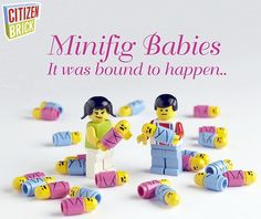 Custom LEGO Babies by CitizenBrick.com. Have your own custom printed legos.