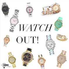 **Trendy Tuesday!** Our diverse selection of watches will keep you on time and on trend this season! SHOP: http://bit.ly/1QvPW8R #justjewelry #jewelry #watches #new #springfashion #fashionaccessories #designerinspired