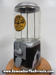 Sun Records, Drive In Movie Theater, Jerry Lee Lewis, Gumball Machine, Johnny Cash, Acorn, Elvis Presley, Restoration, Vending Machines
