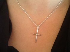 STeRlinG SiLVeR CRoSS NeCKlaCe/ Oxidized STeRLinG/ by Ivanwerks