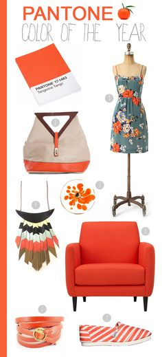 Pantone Color of the Year-Tangerine Tango!   make some bright tangerine pieces for the warmer season