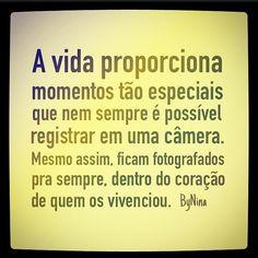 """@instabynina's photo: """"Porque as vezes a 'Foto do dia' não precisa ser registrada! E viva esses momentos tão únicos e tão nossos! #fotografia #fotododia #frasedodia #bynina #frases #instabynina"""""""
