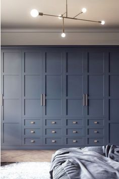 Our four panel shaker Elise design shown here in striking Classic Blue is new for Our design team have created a fabulous door design available in 29 colours. Alcove Wardrobe, Bedroom Built In Wardrobe, Fitted Bedroom Furniture, Fitted Bedrooms, Sliding Wardrobe Doors, Wardrobe Furniture, Blue Bedrooms, Fitted Bedroom Wardrobes, Wall Wardrobe Design
