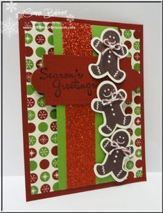 Connie uses Scentsational Seasons & its framelits, More Merry Messages, Be of Good Cheer dsp, & Apothecary Accents to create this card with a surprise.