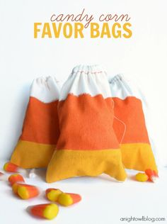 #DIY Candy Corn Treat Bags