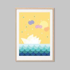 Sunny Sydney Poster  Modern Australia by SealDesignStudio on Etsy, $15.50