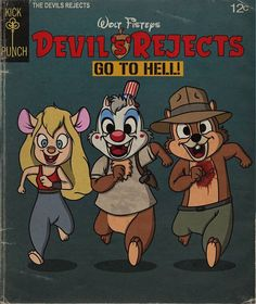 Oh Wow: A Gallery Of Horror Movies Starring Disney Characters In The Style Of Vintage Walt Disney Comics - Geekologie Disney Horror, Evil Disney, Dark Disney, Most Popular Disney Movies, The Devil's Rejects, Classic Disney Characters, Cartoon Characters, Disney Illustration, Alien Character