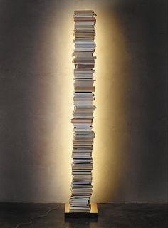 Bibliothèque haute / contemporaine / en métal / avec éclairage intégré PTOLOMEO LUCE by Bruno Rainaldi OPINION CIATTI