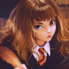 Anime Hermione - first year