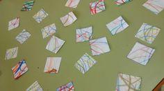Laura y Paloma realizaron numerosas texturas de dibujado irregular para que sus compañeros tengan gran variedad para elegir. Muy bien chicas!