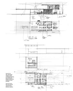 ​How Architecture Is Born: 8 Pencil Sketches by Tom Kundig and the Buildings They Helped Create - Architizer Section Drawing Architecture, Landscape Architecture Model, Architecture Portfolio Layout, Architecture Drawing Sketchbooks, Architecture Building Design, Architecture Wallpaper, Architecture Collage, Architecture Diagrams, Plan Sketch