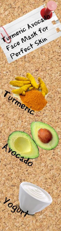 turmeric avocado face mask