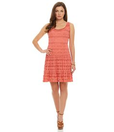 M.S.S.P. Tiered Dot Lace Dress