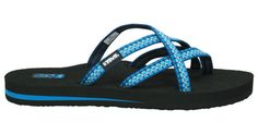 Womens Olowahu By Teva Footwear - so comfy!!  They've climbed Mt Vesuvius in Italy, explored the ruins of Pompeii and Athens, climbed the rocky Mt Drfys in Greece and have ridden a camel into the Egyptian dessert to see the pyramids.  They're STILL the most comfortable flip flops ever!