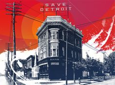 Save #Detroit #Art Print #Michigan