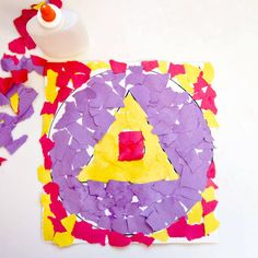 Torn Paper Shape Collage | 25 Of The Best Toddler Crafts For Little Hands