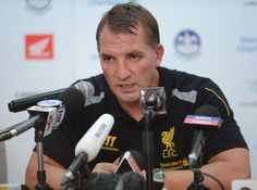 Manager Brendan Rodgers of Liverpool FC during press conference for the international friendly match between Thailand and Liverpool at Rajamangala Stadium on July 28, 2013 in Bangkok, Thailand