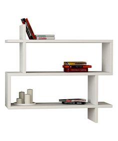 Look at this #zulilyfind! White Parallel Floating Shelf #zulilyfinds