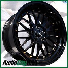 17x8-5-JNC-005-5X120-30-BLACK-GOLD-RIVET-RIM-FIT-BMW-E90-E92-sale