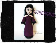 Living Dead Doll Clothes  Purple Goth GOWN w/black by DOLLS4EMMA