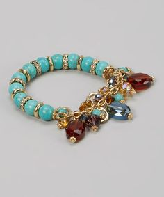Turquoise Fall For Your Type Stretch Bracelet by LOLO by New Dimensions #zulilyfinds