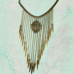Faith rises Chandelier fringe necklace Rhinestone medieval rosary...