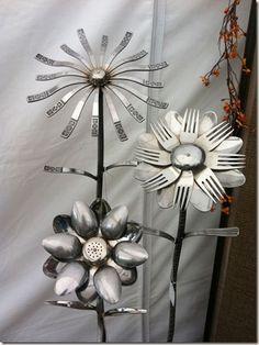 spoon and fork yard art @Matt Nickles Nickles Nickles Nickles Nickles Beecroft Wilhite