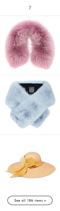 """""""ㅅ"""" by ddddddddddq ❤ liked on Polyvore featuring accessories, scarves, fur shawl, fur scarves, fur, blue, fox fur scarves, lilly e violetta, blue shawl and blue scarves"""