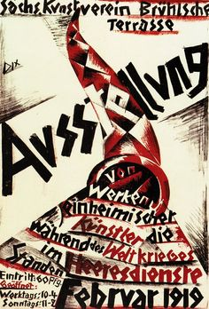 Otto Dix, poster for the Exhibition of the Saxon Art Association (lithograph, 1919)